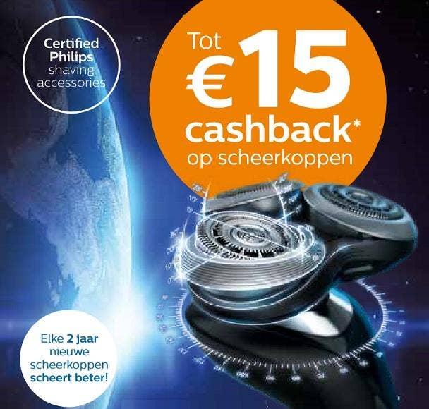 Philips cashback scheerkoppen