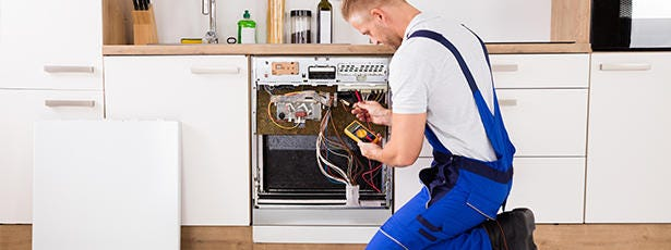 Installatiebanner Afwasmachine